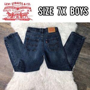 Levi's slim boys blue jeans